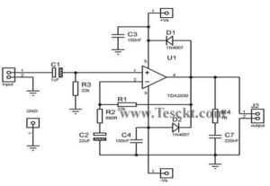 TDA2030 14 watts amplifier with dual power supply