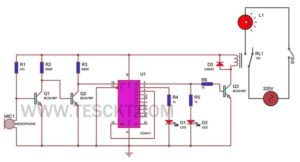 clap switch for lights on off circuit diagram