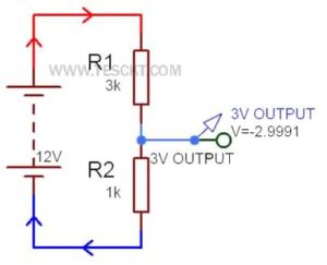 how to convert 12v to 3v using resistor